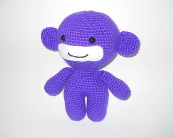 Crocheted Monkey - stuffed crocheted monkey - stuffed animal - crocheted animal - baby shower gift - baby stuffed animal - stuffed toy