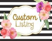 Custom Listing for kristen9382