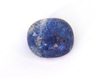 Dumortierite Quartz Gemstone 16.8X19.3x10.6 mm  22.0 carats Free Shipping