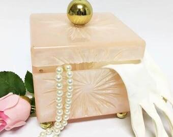 Mid Century Pink Vanity Box