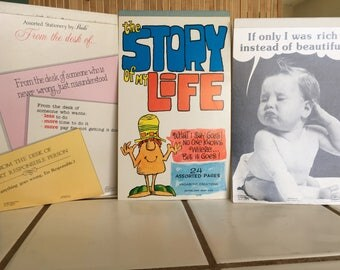 """Vintage 80's """"COMICAL WRITING TABLETS"""" a Lot of 3 Assorted Stationery by Paula & Co - Vagabond Creations"""