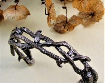 Thorn Bracelet, Gothic, Cuff Bracelet, Gothic Jewelry, Gothic Wedding Jewelry, Branch Jewelry, Twilight Jewelry, Gothic Wedding, GothJewelry