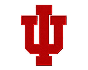 Hoosiers Embroidered Iron On Patch
