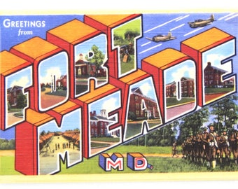 Greetings from Fort Meade Maryland Fridge Magnet