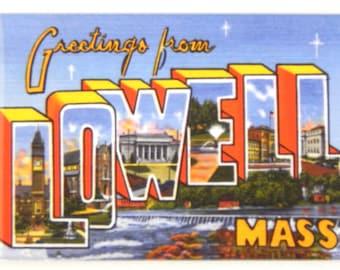 Greetings from Lowell Massachusetts Fridge Magnet
