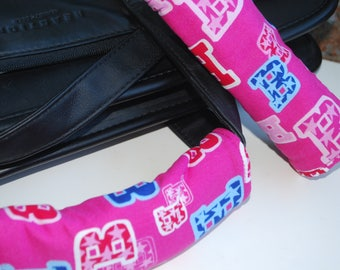 Luggage Handle Wrap Set of 2,Barbie blue,red,pink