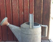 Antique Tin Watering Can...Vintage Rustic Shabby Chic Country Primitive Gardening Patio Porch Plants Flowers Spring Summer Hose Planters