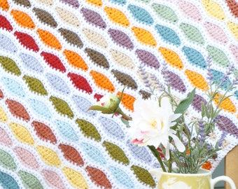 Bertie Blanket, Crochet Pattern Blanket, Afghan Pattern for Crochet, Pattern Beginner, Easy to Make, Baby Blanket, Pattern Crochet, Bright