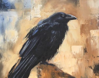 "Oil painting ""Crow"" direct from the artist 16 X 12 inches"