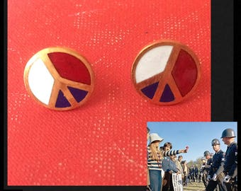1970s Peace Earrings are New Old Stock