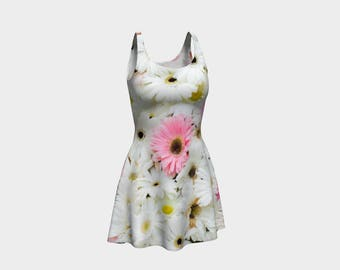 Chic Floral Flared Dress that will make you the hit of any Gala! - 4