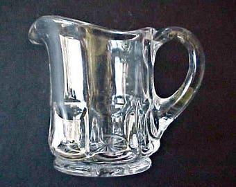 Pretty Little Victorian Era Individual Pattern Glass Creamer
