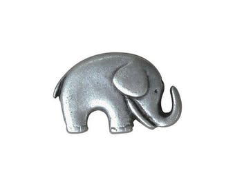 Metal Elephant Button 20mm x 14mm