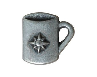 Metal Coffee Mug Button 15mm