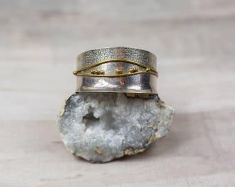 Vintage Mondernist Sterling Silver Cuff Carrie Groves