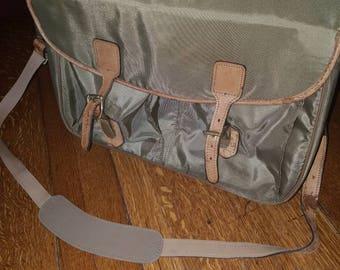 Hartmann leather lined messenger bag