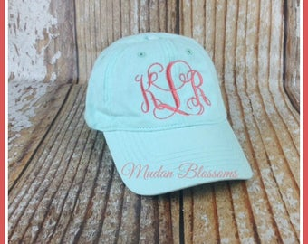Monogram hat, Women Monogrammed cap, women monogram hat, baseball cap, monogram cap, hat, personalized hat, womens hat