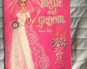 1970 Bride & Groom paper dolls, all cut