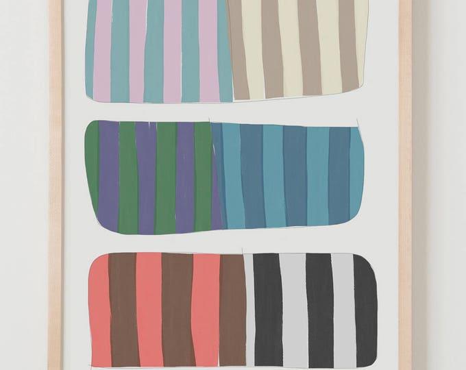 Fine Art Print.  Stripe Study Strips, October 1, 2017.