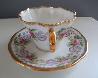 Salisburg Cup & Saucer - English Fine China - English Cup and Saucer - Display China - Salisburg Crown China - Tea Party China
