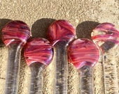 Unique Drink Stir Rods in pink passion by Ocean Beach Glass