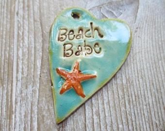 Beach Babe Pendant Use as an Essential Oil Diffuser Pendant
