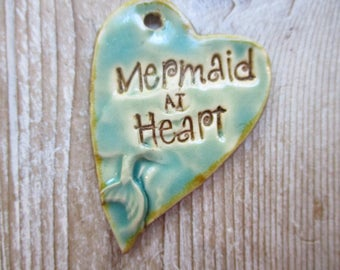 Mermaid at Heart Ceramic Pendant