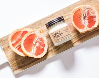 Grapefruit Splash | Handmade Soy Wax Mason Jar Candles | Choose Your Size | 4 oz. | 8 oz. | 16 oz. | North Mountain Candle Co.