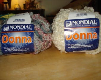 NWT Mondial Donna Yarn – Lg Boucle – 2 Skeins – Discontinued – #685