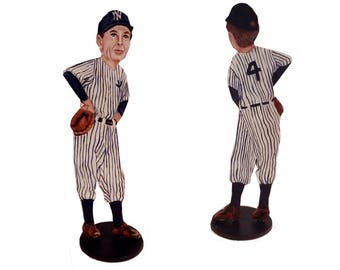 Gary Cooper Pride of the Yankees Hand Painted 2D Art Figurine