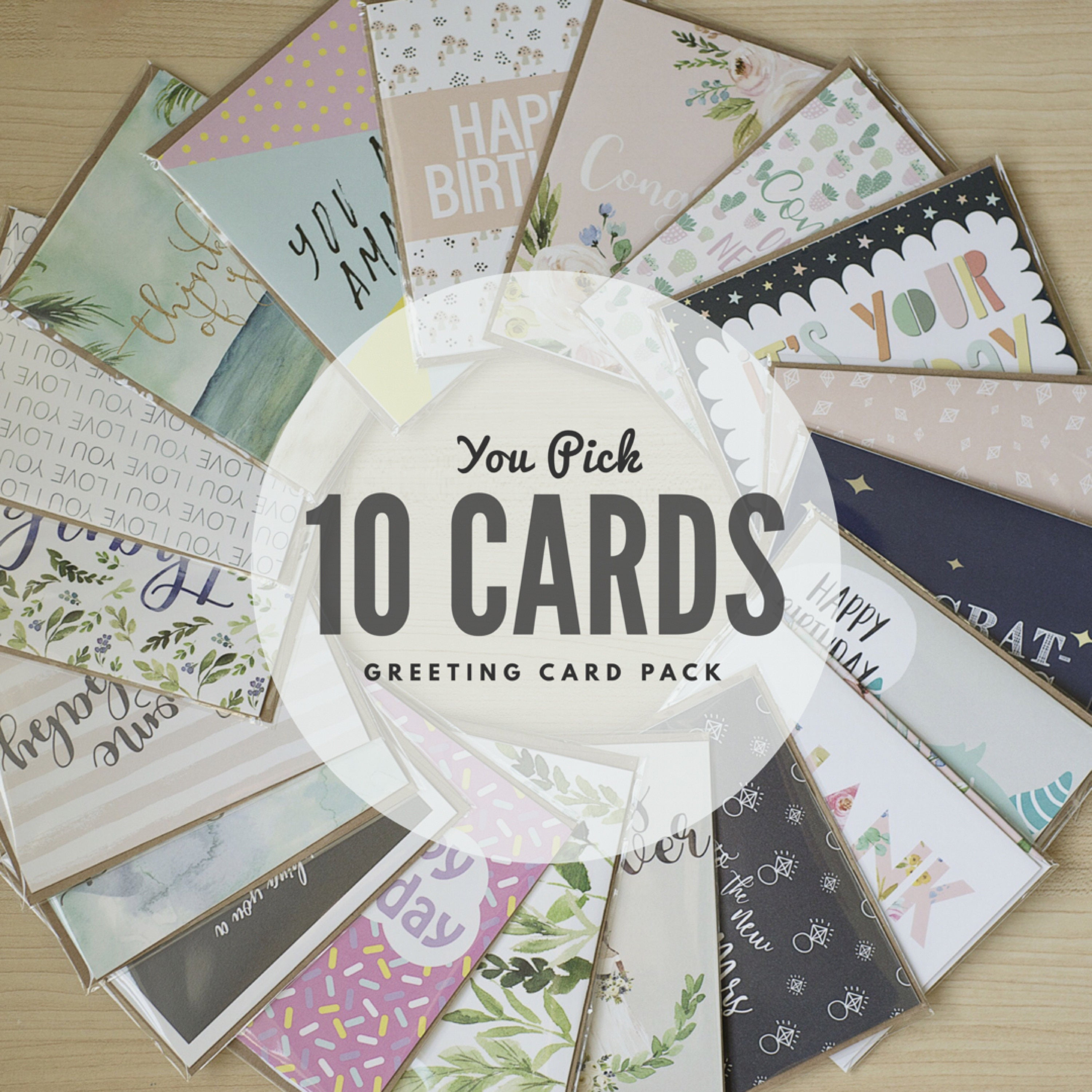 10 pack of greeting cards you pick greeting card set description 10 pack of greeting cards kristyandbryce Image collections
