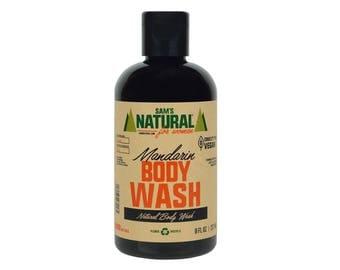 Sam's Natural - Mandarin Body Wash For Women - Gifts - Natural, Vegan + Cruelty-Free
