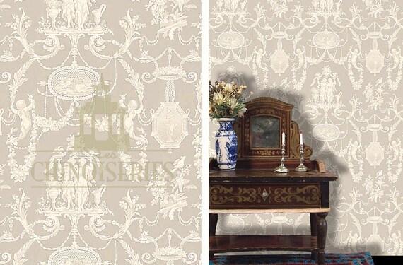 Dollhouse Miniature Wallpaper, Avignon, Scale One Inch