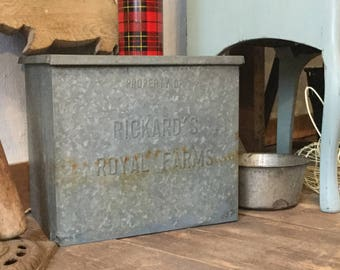 Vintage Metal Milk Delivery Box Dairy Box
