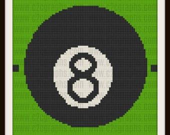 Eight Ball Afghan, Eight Ball C2C Graph, C2C Graph, Corner to Corner pattern, Crochet Pattern