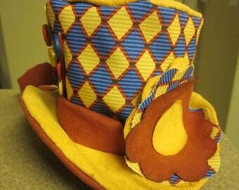 On Sale Harlequin Print Mini Hat