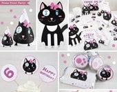 Kitten Party Printables, ...
