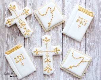 Baptism Cookies, Religious Cookies, First Communion Cookies, Christening Cookies, Communion Cookies, My first Communion, Baby Shower cookies