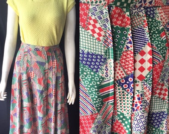 1930s patchwork print skirt