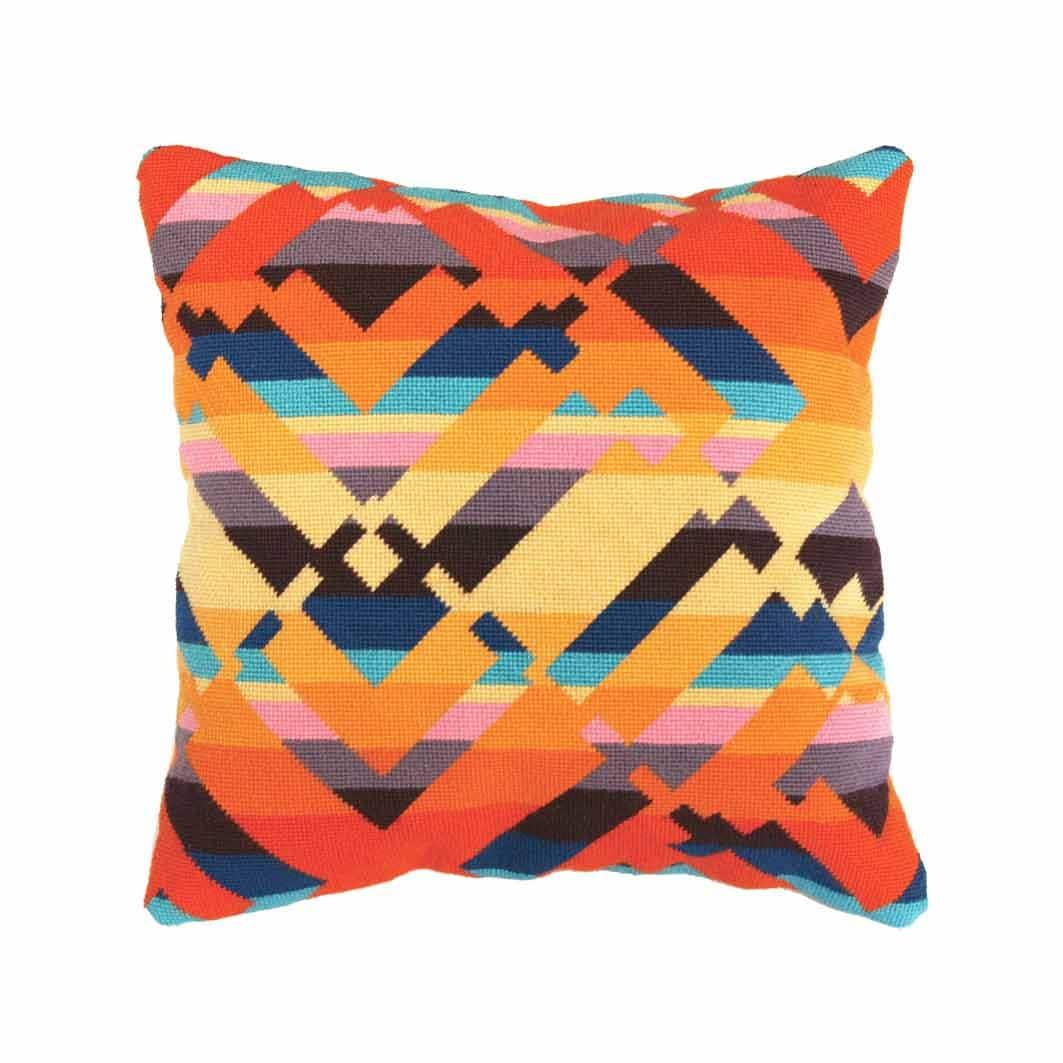 Modern Needlepoint Kits For Pillows : Needlepoint kit Contemporary folk Canyon