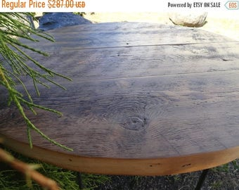 """Limited Time Sale 10% OFF 30"""" Antique Barnwood - Round Dining Table"""