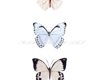 Butterfly Printable Wall Art,  Art Print, Butterfly Painting, Wall Decor