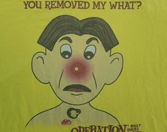 Vintage Novelty Operation Board Game Shirt You Removed My What Funny Quirky Silly Tee