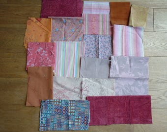 set of fabrics for patchwork 164 coupons