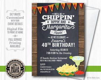 Fiesta Margarita Customized Printable Invitation