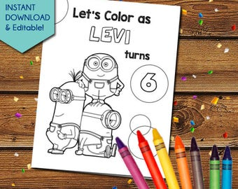 Despicable Me 3 Party Activity Book, Despicable Me Party Favors, Despicable Me 3 Party Games, Despicable Me 3 Coloring Pages