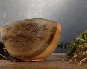 ON SALE Vintage wooden bowl