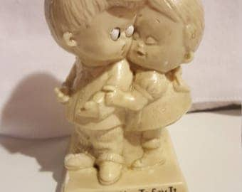 "R & W Berries Figurine, ""One of Us Has to Say It..."", Vintage 1970s"
