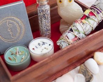 Large Altar Kit - Spell Kit - Travel Altar - Altar in a Box - Portable Altar - Wiccan - Altar Bundle