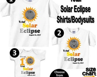 SALE Total Solar Eclipse August 21, 2017 Family T-shirts Shirt Baby Bodysuit Adult Mom Dad Baby Kids Boy Girl Sibling Reunion Cousins Party